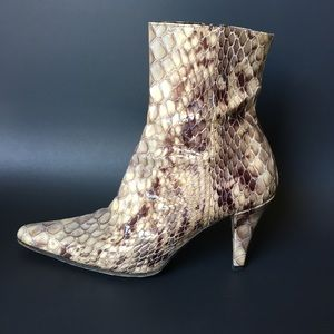 Shoes - Snake skin booties 7.5 or 8